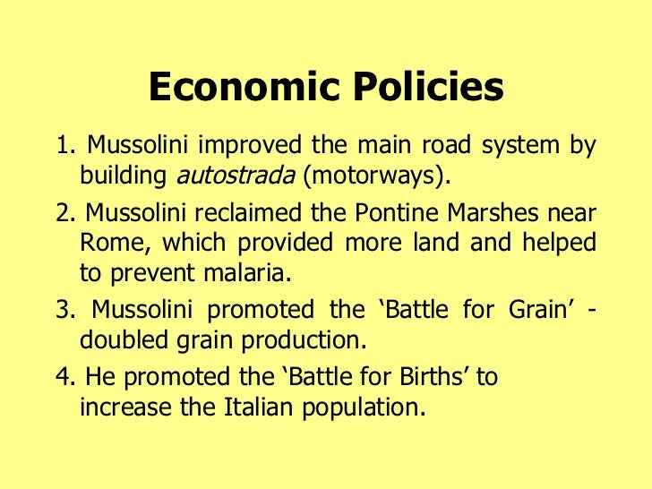 What Were Benito Mussolini's Goals for Italy?