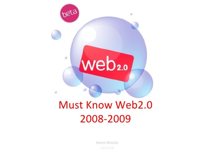 Must Know Web2.0 2008 2009