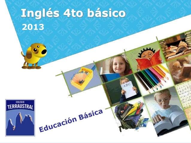 Inglés 4to básico2013