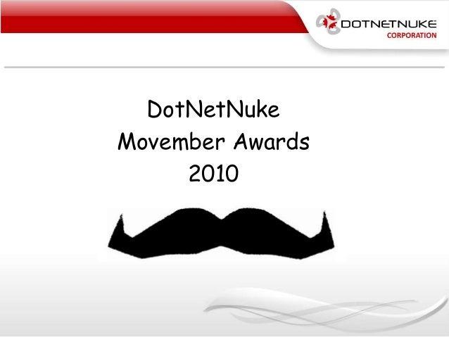 DotNetNuke Movember Awards 2010