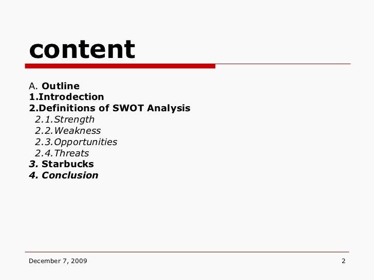 swot outline
