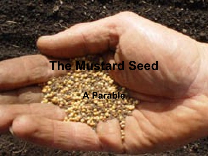 The Mustard Seed    A Parable