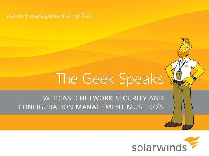 The Must Do's of Network Security and Configuration Management