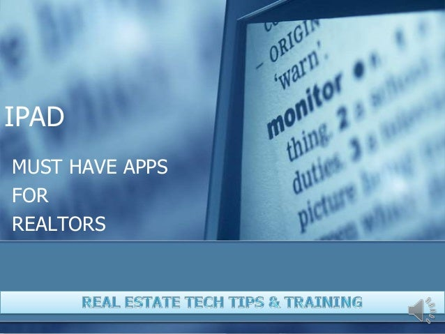 Must have apps for ipad for realtors cloudon