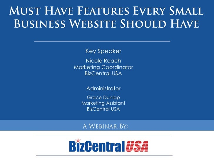 Must Have Small Business Website Features