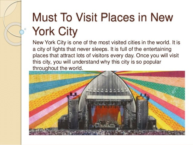 Must to visit places in new york city for Places to explore in nyc