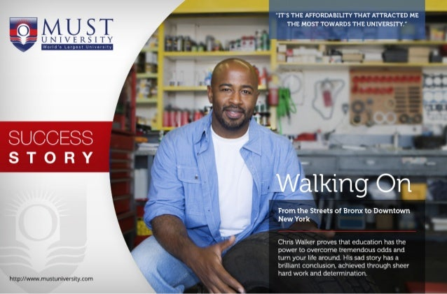 MUST University Success Story: Walking On