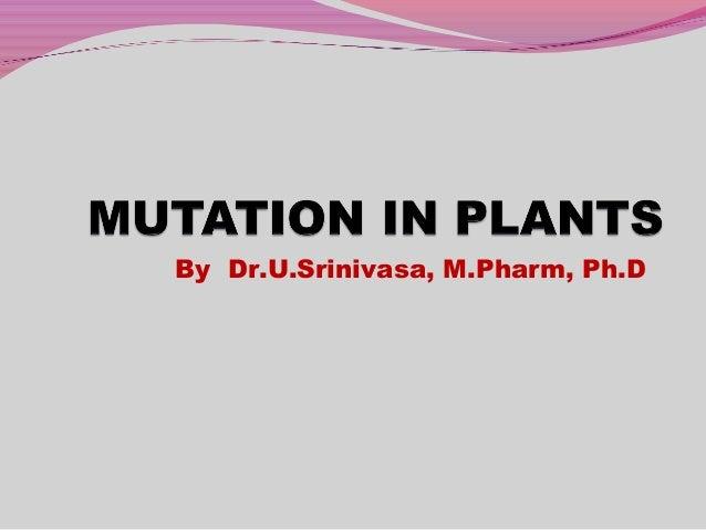 By Dr.U.Srinivasa, M.Pharm, Ph.D