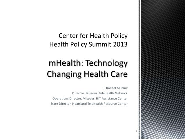 mHealth: Technology Changing Health Care