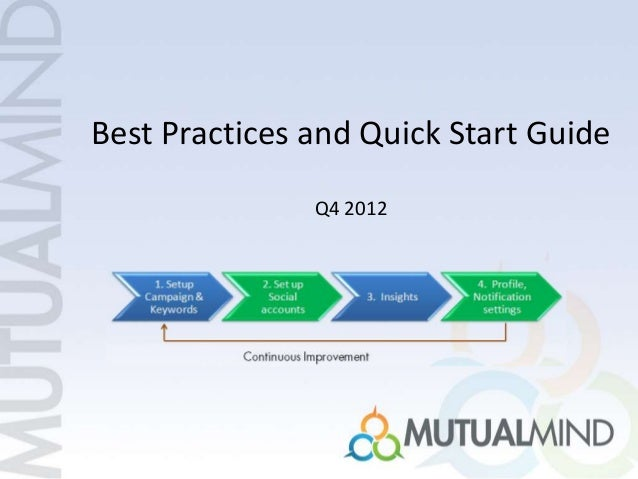 Best Practices and Quick Start Guide Q4 2012
