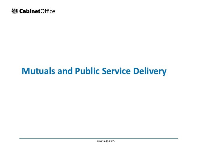 Mutuals and public service delivery