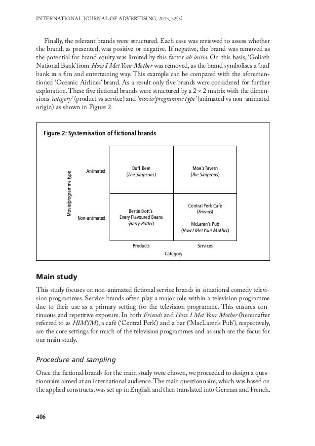 research paper on product placement Toward product placement in television shows paper 4 abstract in recent among this research, many of the studies on product placement have focused on.