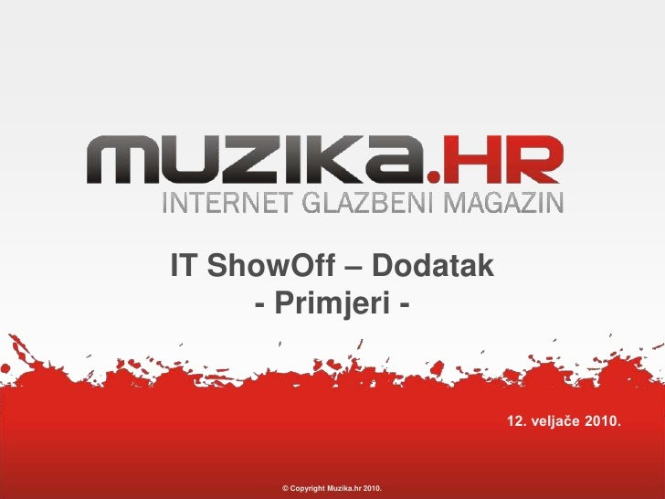 Tomislav Capan - Muzika Hr Dodatak Primjeri (IT Showoff)