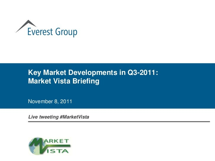 Key Market Developments in Q3-2011:Market Vista BriefingNovember 8, 2011Live tweeting #MarketVista