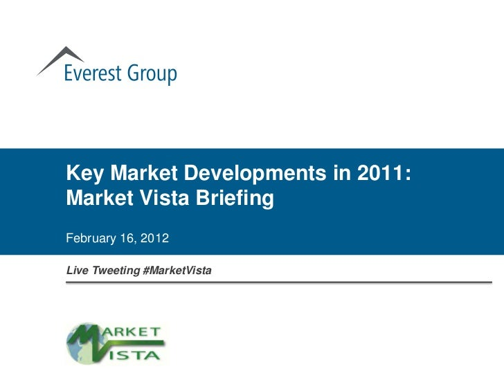 Key Market Developments in 2011: Market Vista Briefing
