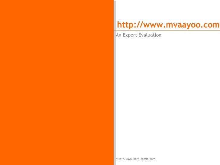 mVaayoo.com Expert Usability Evaluation by Kern