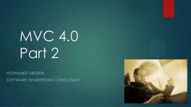 ASP.Net MVC 4 [Part - 2]