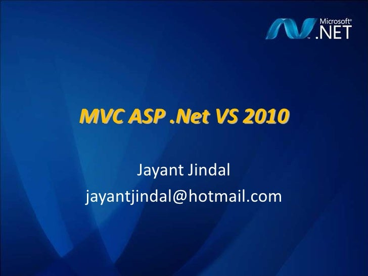 Mvc 4 0_jayant_jindal_28082010