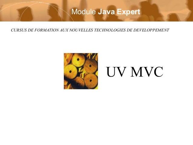 Module Java Expert CURSUS DE FORMATION AUX NOUVELLES TECHNOLOGIES DE DEVELOPPEMENT  UV MVC