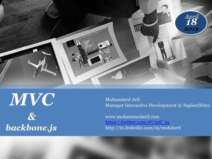 MVC & backbone.js