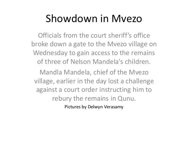 Mandela case: Showdown in Mvezo