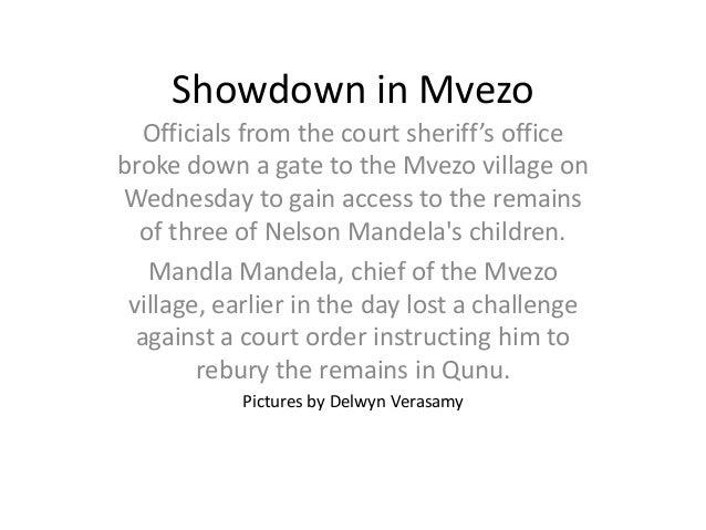 Showdown in Mvezo