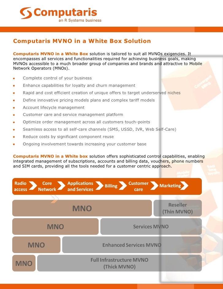 Computaris – MVNO in a White Box Solution