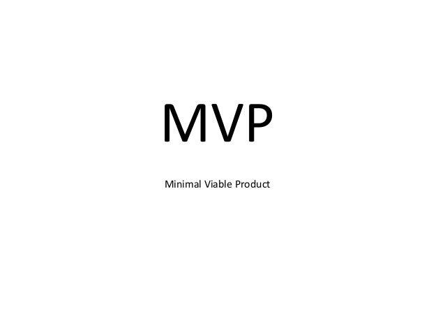 MVP - Lean Startup Machine Tel Aviv 2014
