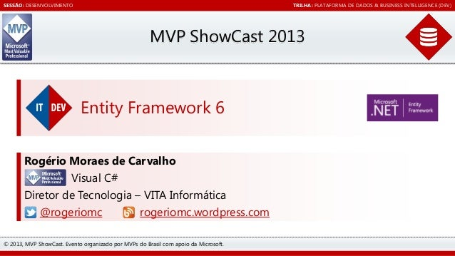 Entity Framework 6 [MVP ShowCast 2013 - DEV - Plataforma de dados & Business Intelligence (DEV)]