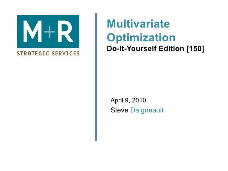 Multivariate DIY - Daigneault
