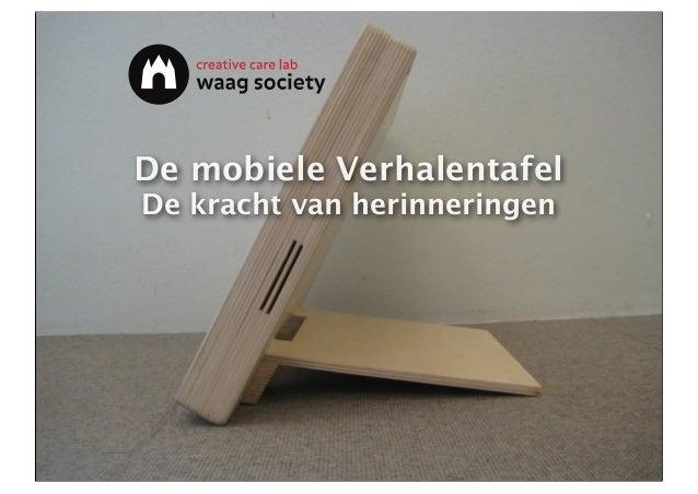 Mobiele Verhalentafel - Waag Society