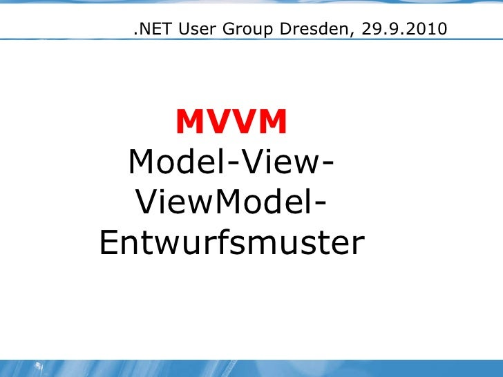 MVVM Pattern