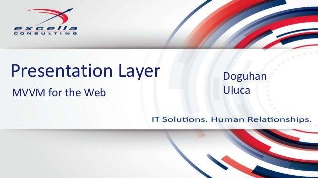 Presentation Layer DoguhanUlucaMVVM for the Web