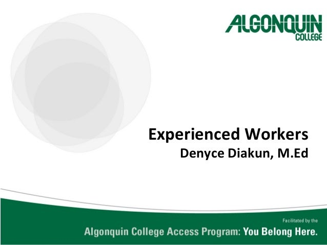05_Mature Workers program at Algonquin by Denyce Diakun