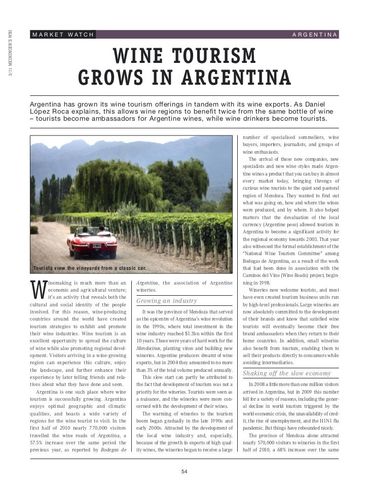 Wine Tourism Grows in Argentina