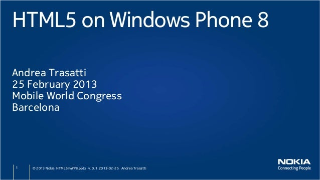 MWC/ADC 2013 HTML5 on Windows Phone 8