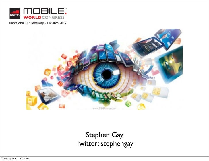 Stephen Gay                          Twitter: stephengayTuesday, March 27, 2012