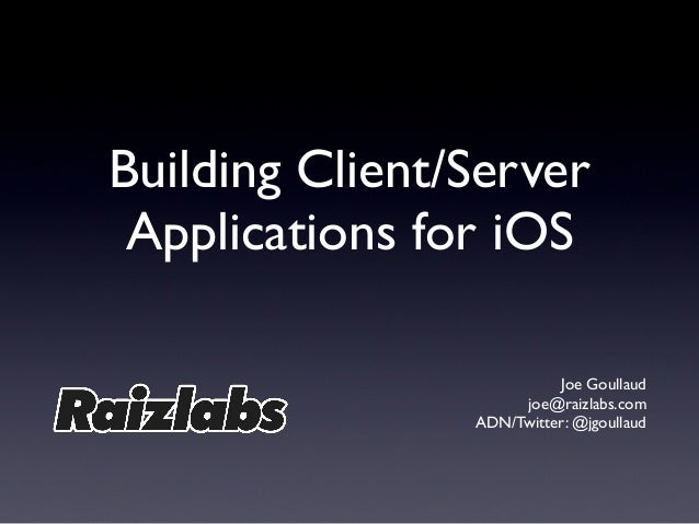 Building Client-Server Apps for iOS