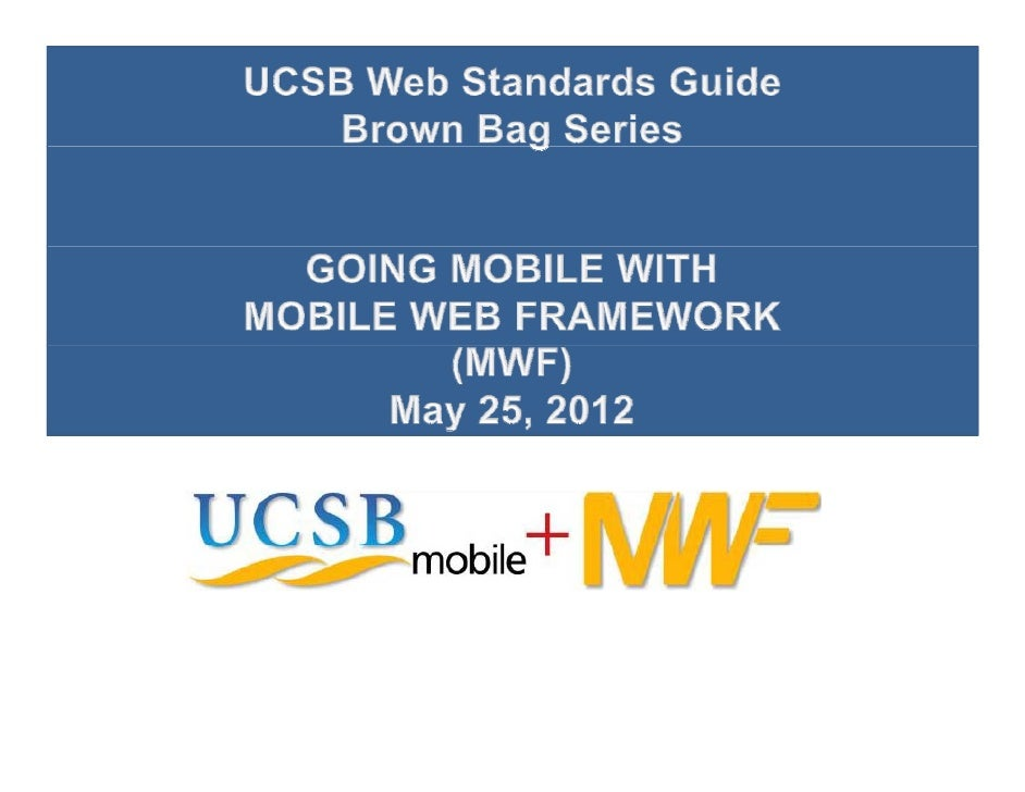 Mobile Web Development with MWF