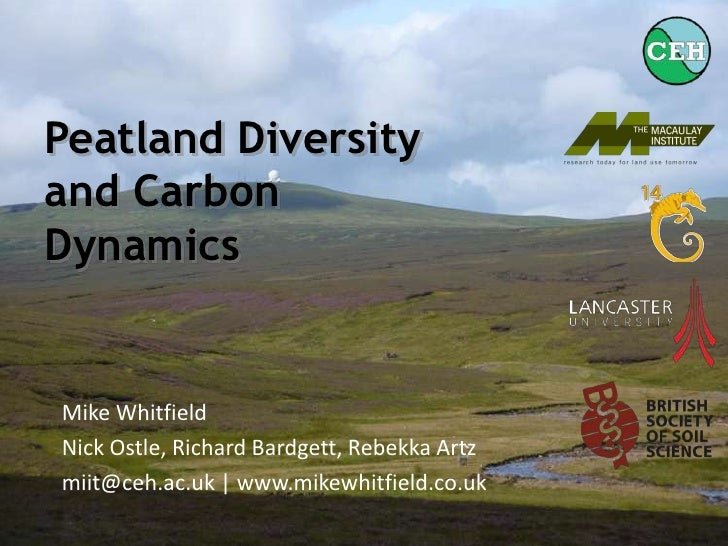 Peatland Diversity and Carbon Dynamics (September 2010)