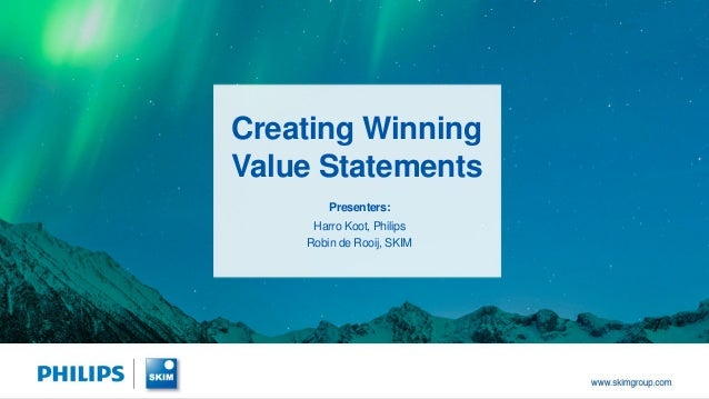 Creating Winning Value Statements