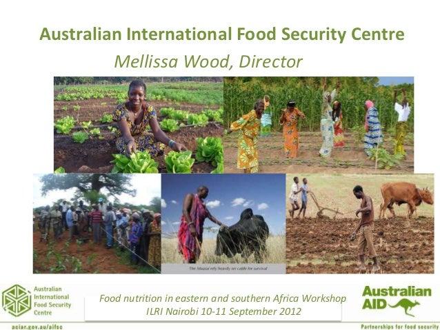 Australian International Food Security Centre         Mellissa Wood, Director                        Test slide           ...