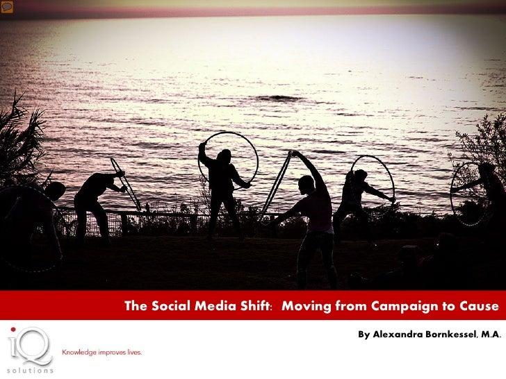 By Alexandra Bornkessel                                  Social Strategist, IQ SolutionThe Social Media Shift: Moving from...