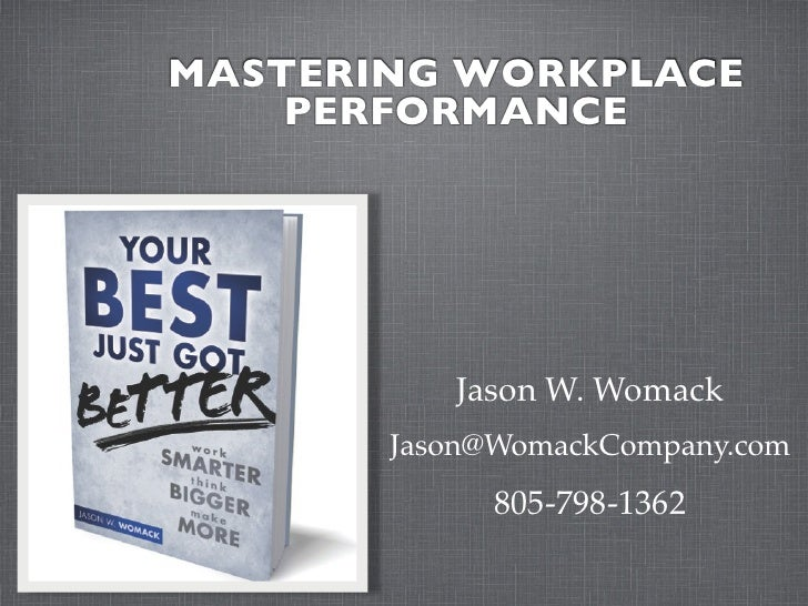 Mastering Workplace Performance - London, UK