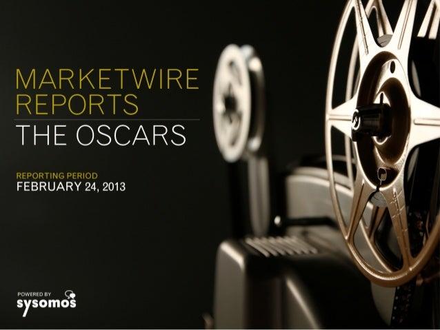 Marketwire Reports - The Oscars