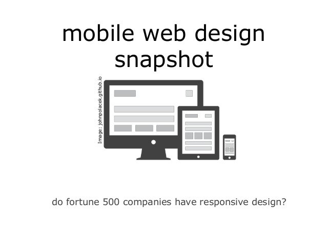 mobile web design snapshot