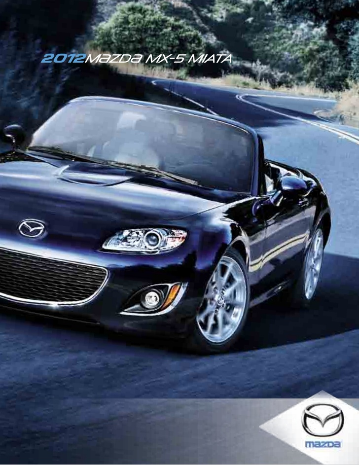 2012 Mazda Mx 5 Miata Convertible Brochure Provided By