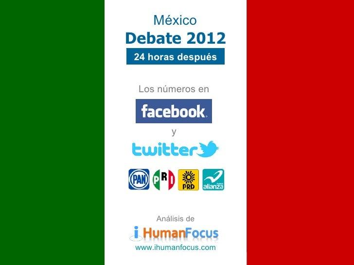 MéxicoDebate 201224 horas después Los números en          y      Análisis de www.ihumanfocus.com