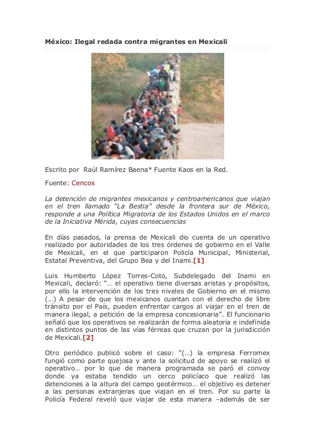 México: Ilegal redada contra migrantes en Mexicali