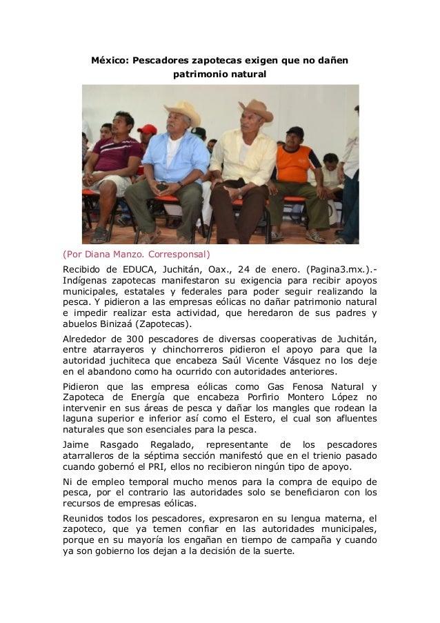 México: Pescadores zapotecas exigen que no dañen patrimonio natural